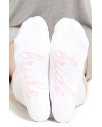 Sockart - White 'bride' Crew Socks - Lyst