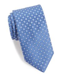 Canali - Blue Floral Medallion Silk Tie for Men - Lyst