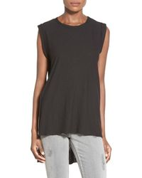 Michelle By Comune - Black High/low Sleeveless Top - Lyst