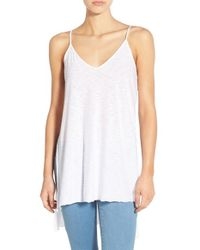 Michelle By Comune - White High/low V-neck Tank - Lyst