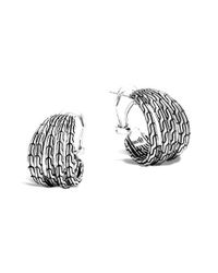 John Hardy | Metallic 'classic Chain' Small Hoop Earrings | Lyst