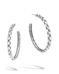 John Hardy | Metallic 'legends' Cobra Medium Hoop Earrings | Lyst