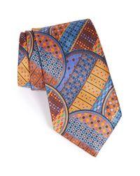 Ermenegildo Zegna | Blue Medallion Silk Tie for Men | Lyst