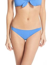 Tory Burch | Blue 'laurito' Low Rise Bikini Bottoms | Lyst
