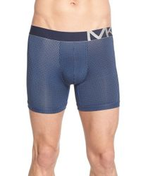 Michael Kors | Blue Graphic Print Stretch Boxer Briefs for Men | Lyst