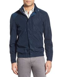 W.r.k. | 'chrysler' Packable Hooded Windbreaker, Blue for Men | Lyst