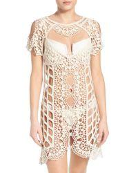 For Love & Lemons - White 'barcelona' Crochet Cover-up - Lyst