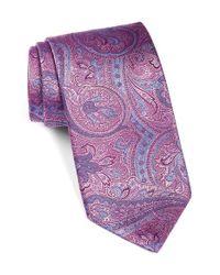 David Donahue | Multicolor Paisley Silk Tie for Men | Lyst