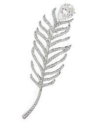 Nadri - Metallic Feather Pin - Lyst