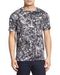 Bugatchi - White Short Sleeve Graphic Linen T-shirt for Men - Lyst