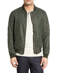 Spiewak - Green 'essex Ma1' Water Resistant Hooded Jacket for Men - Lyst