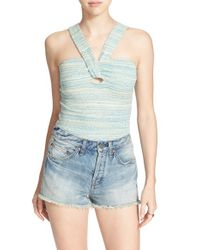 Free People | Green 'beach Cruiser' Tank | Lyst