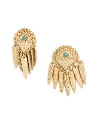 BaubleBar | Metallic 'palenque' Hammered Fringe Earrings | Lyst