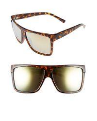 Quay   Metallic 'barnun' 60mm Sunglasses - Tort/ Gold Mirror   Lyst