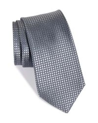 Nordstrom - Gray Nordstrom 'holiday Party' Tonal Grid Silk Tie for Men - Lyst