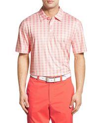 Cutter & Buck - Orange 'vineyard Plaid' Drytec Golf Polo for Men - Lyst