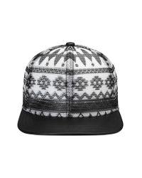 Gents - Black Print Mesh Snapback Cap for Men - Lyst