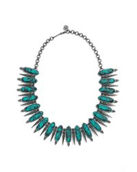 Kendra Scott | Blue 'gwendolyn' Collar Necklace | Lyst