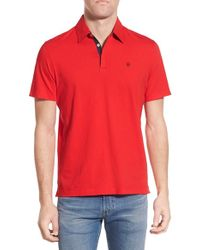 Victorinox - Red 'vent' Slim Fit Polo for Men - Lyst