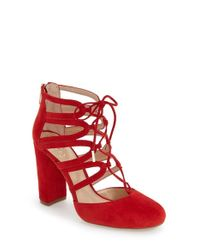 Vince Camuto | Red 'shavona' Ghillie Pump | Lyst