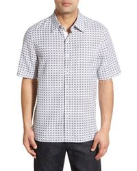 Nat Nast - Blue 'robusto' Regular Fit Cotton, Silk & Linen Sport Shirt for Men - Lyst