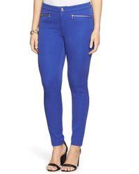 Lauren by Ralph Lauren - Blue Zip Pocket Ankle Skinny Pants - Lyst