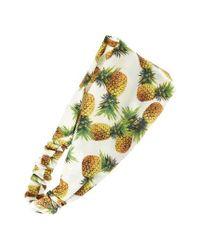 Cara | White Pineapple Print Head Wrap | Lyst