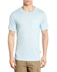 Patagonia | Blue 'daily Triblend' Pocket T-shirt for Men | Lyst