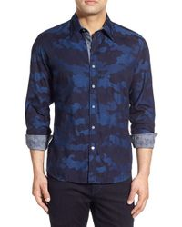 Robert Graham - Black 'tenere' Classic Fit Camo Sport Shirt for Men - Lyst