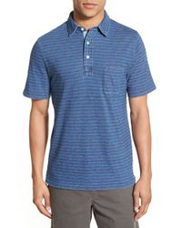 Faherty Brand - Blue Stripe Polo Regular Fit Stripe Polo for Men - Lyst