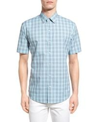 Zachary Prell - Blue 'drew' Trim Fit Short Sleeve Sport Shirt for Men - Lyst