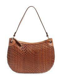 Cole Haan   Orange Genevieve Open Weave Leather Hobo Bag   Lyst