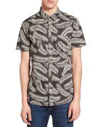 Globe - Multicolor 'oak' Short Sleeve Print Woven Shirt for Men - Lyst