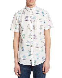 Globe - White 'shroom' Short Sleeve Print Woven Shirt for Men - Lyst