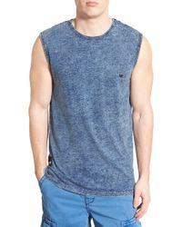 True Religion - Blue X Russell Westbrook Mineral Wash Elongated Muscle Tank for Men - Lyst