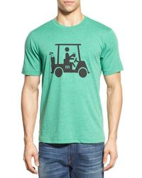 Travis Mathew - Green 'mapes' Graphic Pima Cotton T-shirt for Men - Lyst