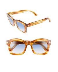 55c28390de48 Lyst - Tom Ford  greta  50mm Sunglasses in Black