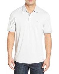 Tommy Bahama | White 'ocean View' Short Sleeve Jacquard Polo for Men | Lyst