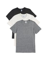 Alternative Apparel - Black 'comfort Crew' Crewneck T-shirts for Men - Lyst
