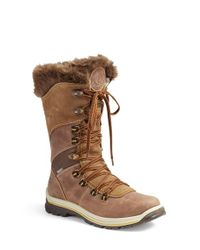 Santana Canada | Brown 'morella' Water Resistant Faux Fur Boot | Lyst