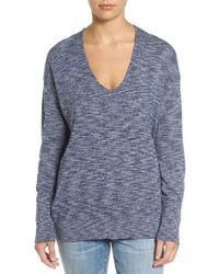 Treasure & Bond - Blue V-neck Pullover - Lyst