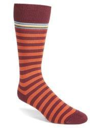 Paul Smith | Orange Stripe Socks for Men | Lyst