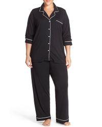 Barefoot Dreams   Black Barefoot Dreams 'luxe Milk' Jersey Pajamas   Lyst