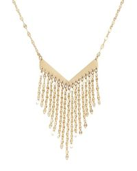 Lana Jewelry - Metallic Fringe Pendant Necklace - Lyst