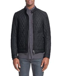 Belstaff | Black Bramley Quilted Moto Jacket for Men | Lyst