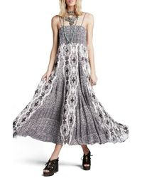 Free People | White 'women Of The Water' Print Maxi Dress | Lyst