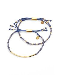Gorjana | Metallic 'power Stone' Semiprecious Stone Bracelet (set Of 2) | Lyst
