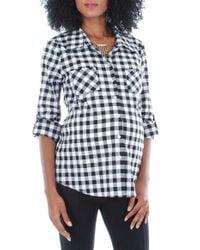 Everly Grey - Black 'batina' Maternity Shirt - Lyst