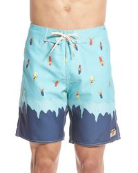 Ambsn - Blue 'wipeout' Print Board Shorts for Men - Lyst