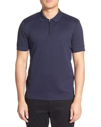 Vince Camuto | Blue Slim Fit Mesh Polo for Men | Lyst